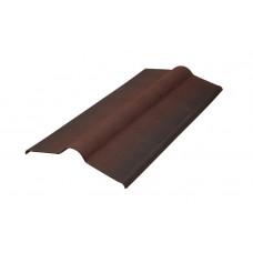 Конек для ондулин ЧЕРЕПИЦЫ (коричневый) 0,36*1,0м (0,88)