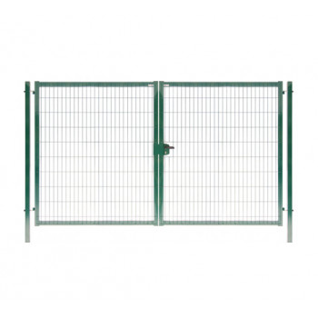 Ворота Profi 1,53*4,5м пруток 5мм RAL 6005 зеленый распашные (ПОД ЗАКАЗ)