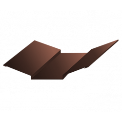 Ендова верхняя коричневый (RAL 8017)