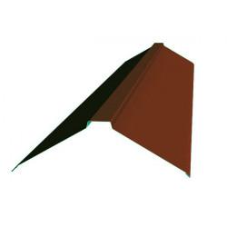 Конек фигурный коричневый (RAL 8017)
