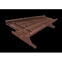 Переходной мостик Металлпрофиль коричневый (RAL 8017)