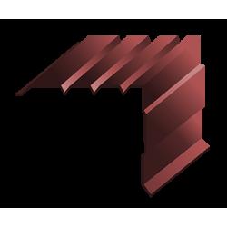 Торцевая планка коричневый (RAL 3005)