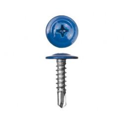 Саморезы с прессшайбой сверло синий (RAL 5005)