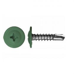 Саморезы с прессшайбой сверло зеленый (RAL 6002)