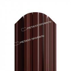 Штакетник металлический коричневый (RAL 8017)